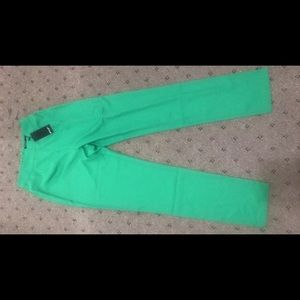 NastyGal Green Straight Leg Trousers